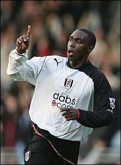 Fulham striker Andy Cole struck twice