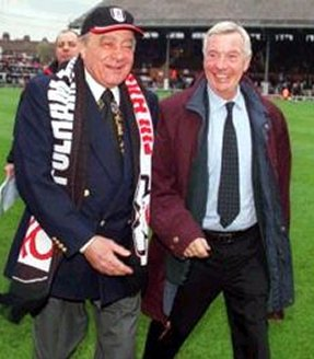 Johnny Haynes in happier days with Chairman Mo