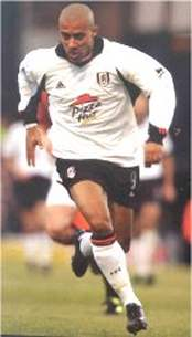 Fulham striker Steve Marlet