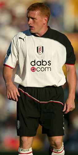Fulham midfielder Mark Pembridge scores his first goal for Fulham