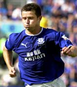 Everton striker Tomasz Radzinski