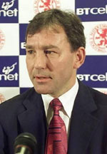 West Brom manager Bryan Robson