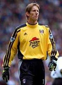 Fulham Goalkeeper Edwin van der Sar