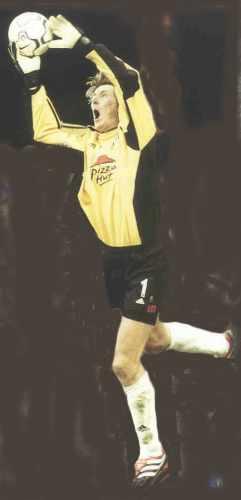 Fulham keeper Edwin van der Sar